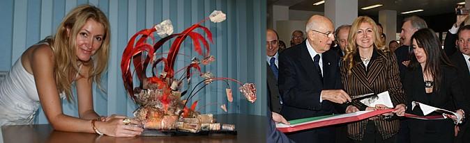 Giusy d'Arrigo con Giorgio Napolitano